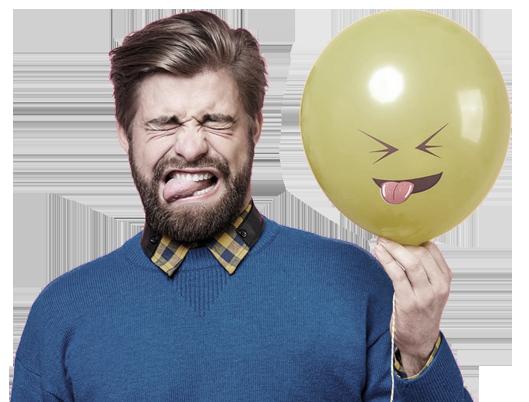 guy with ballon